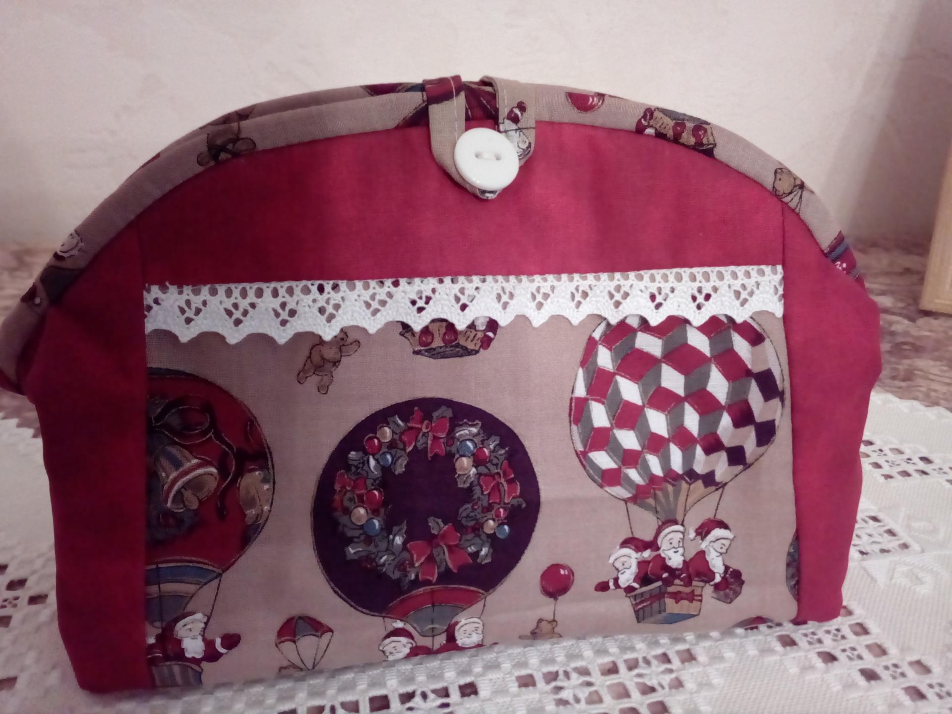 Trousse patchwork avec fermeture éclair
