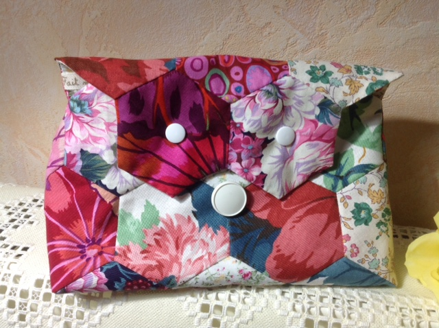 Trousse patchwork hexagones